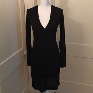 Rampage Black V neck Mini Dress